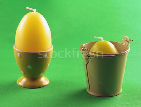 卵 キャンドル キッチン オレンジ 色 白 ストックフォト © Koufax73