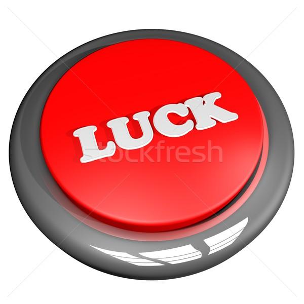 Stock photo: Luck button