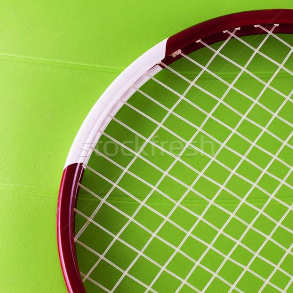 テニスラケット 表面 緑 水平な 画像 テクスチャ ストックフォト © Koufax73