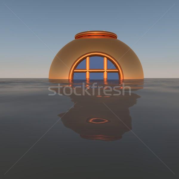 Duiken helm uit water 3d render metaal Stockfoto © Koufax73