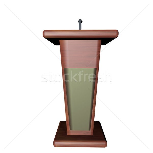 Podium for speaker Stock photo © Koufax73