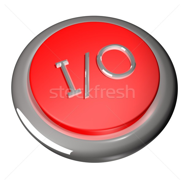 символ кнопки 3d визуализации черный цвета программное Сток-фото © Koufax73