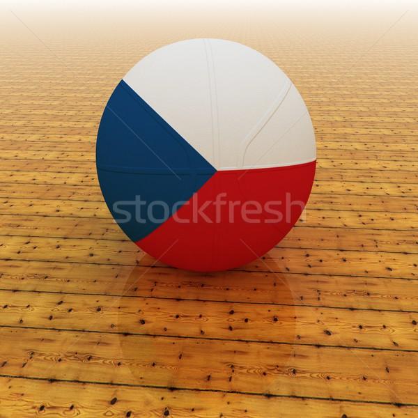 チェコ語 バスケットボール チェコ共和国 フラグ 3dのレンダリング 広場 ストックフォト © Koufax73