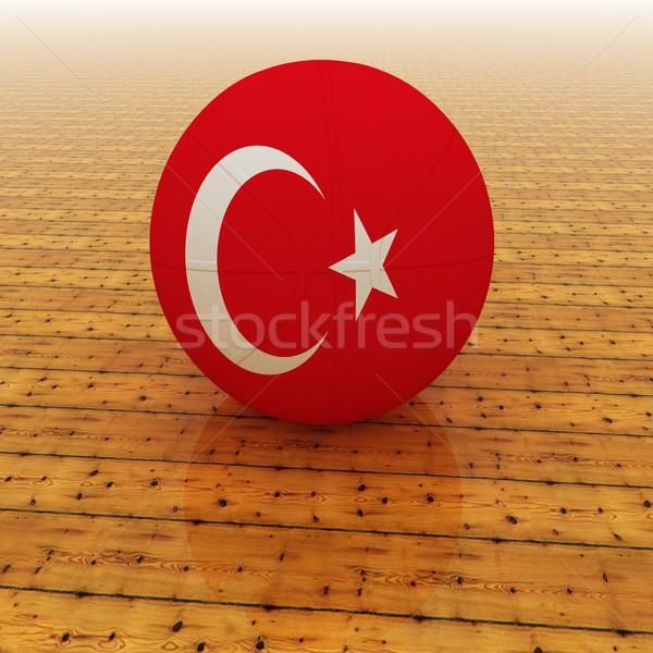 Турция баскетбол флаг 3d визуализации квадратный изображение Сток-фото © Koufax73