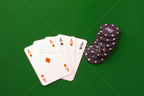 Four aces and chips Stock photo © Koufax73