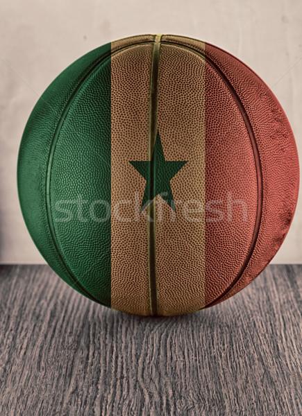 セネガル バスケットボール フラグ 木製 表面 スポーツ ストックフォト © Koufax73