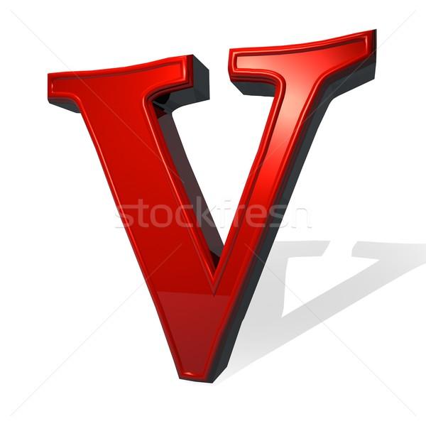 手紙 赤 白 影 3dのレンダリング デザイン ストックフォト © Koufax73