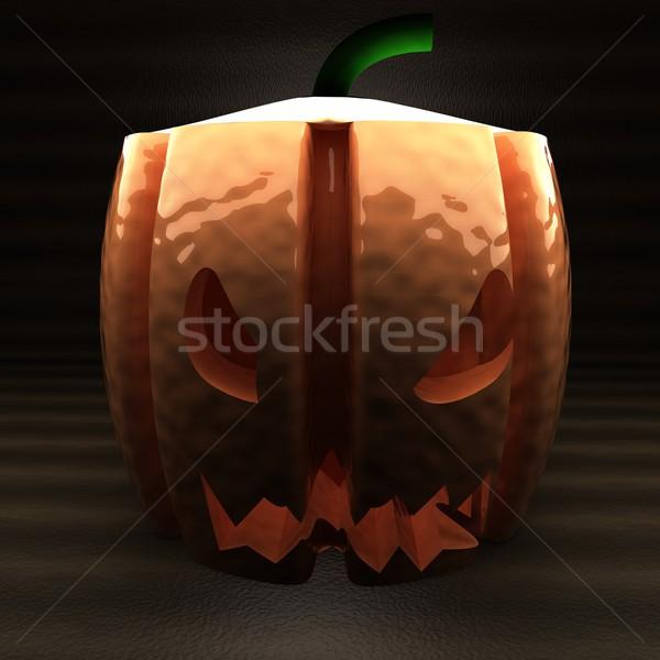 темноте 3d визуализации квадратный изображение улыбка Сток-фото © Koufax73
