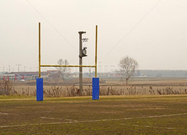 Rugby alan ağaç eller el spor Stok fotoğraf © Koufax73