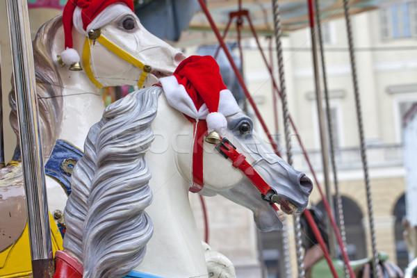 Giostra cavallo Hat legno Foto d'archivio © Koufax73