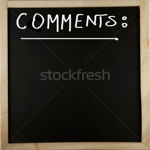 Iskolatábla hozzászólások fából készült keretek szó technológia Stock fotó © Koufax73