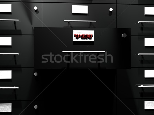 Top secret drawer Stock photo © Koufax73