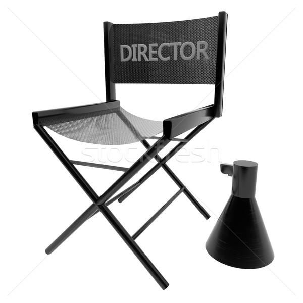 Председатель изолированный белый 3d визуализации квадратный изображение Сток-фото © Koufax73