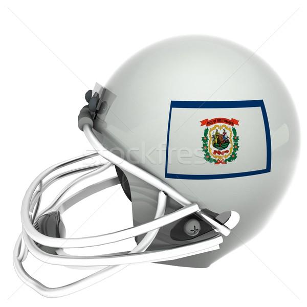 Nyugat-Virginia futball zászló sisak 3d render tér Stock fotó © Koufax73