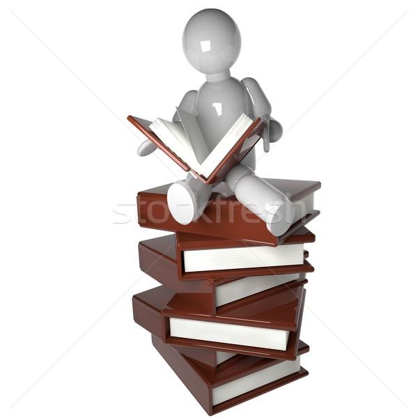 Marionnette lecture livres livre séance Photo stock © Koufax73