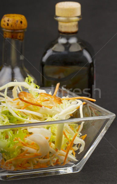 Stock fotó: Saláta · közelkép · vegyes · ecet · olaj · egészség