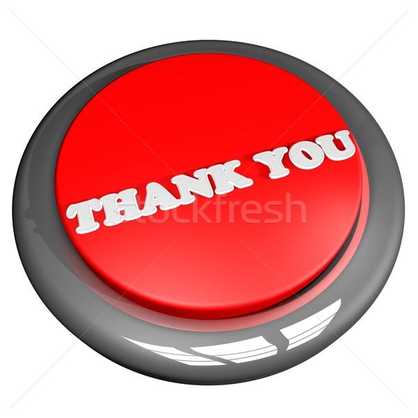 Teşekkür ederim düğme yalıtılmış beyaz 3d render dizayn Stok fotoğraf © Koufax73