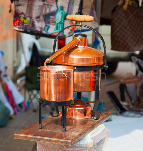 Bronz cam arka plan içmek fabrika Stok fotoğraf © Koufax73