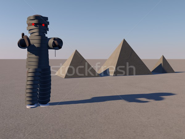 Mummy and pyramids Stock photo © Koufax73
