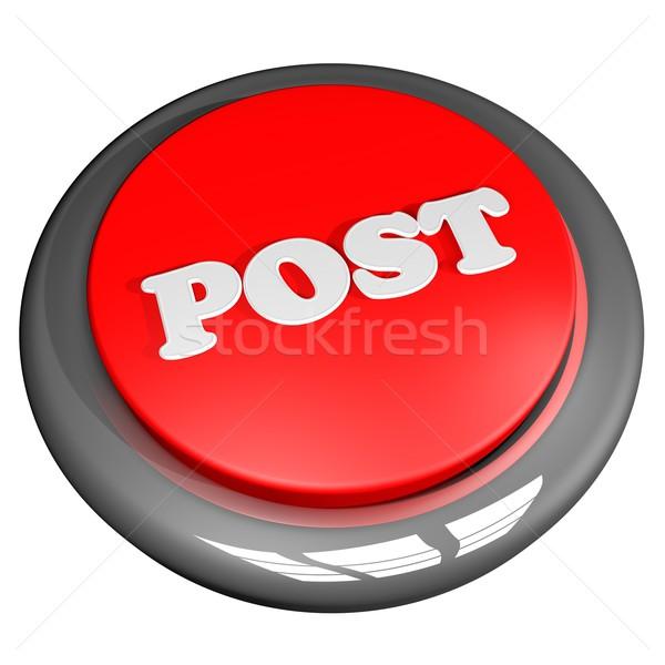 Post botón aislado blanco 3d negocios Foto stock © Koufax73