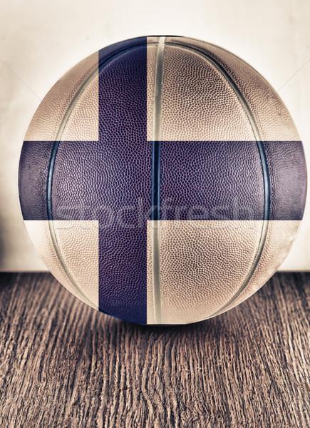 Финляндия баскетбол старые кожа флаг Сток-фото © Koufax73