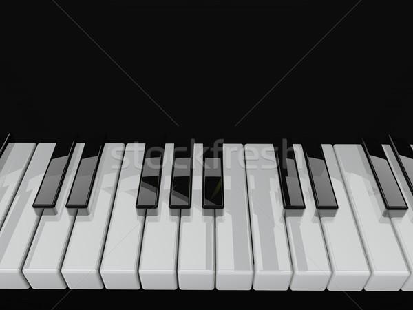 Сток-фото: фортепиано · клавиатура · 3d · визуализации · искусства · ключевые