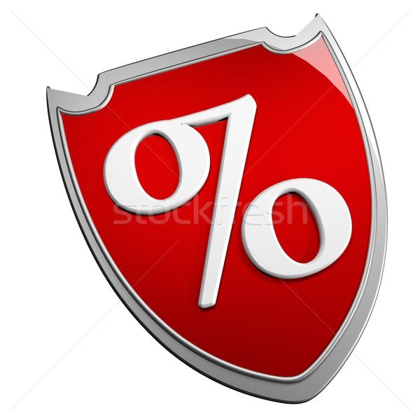 Percentage schild symbool geïsoleerd witte 3d render Stockfoto © Koufax73