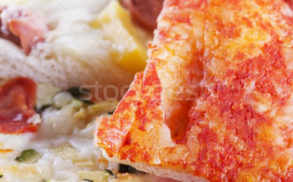 ピザ 異なる スライス 水平な 画像 食品 ストックフォト © Koufax73