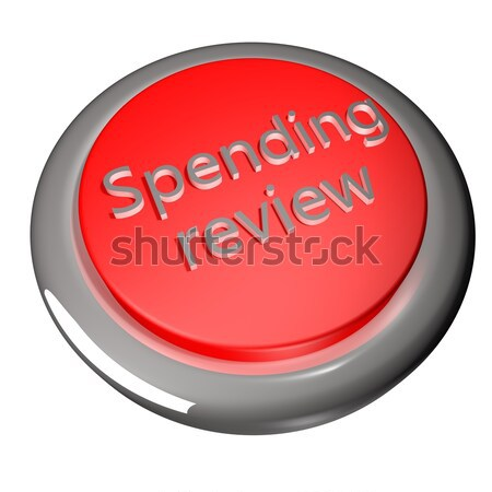Antipatia parola rosso pulsante isolato bianco Foto d'archivio © Koufax73