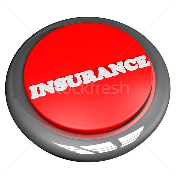 страхования кнопки изолированный белый 3d визуализации автомобилей Сток-фото © Koufax73