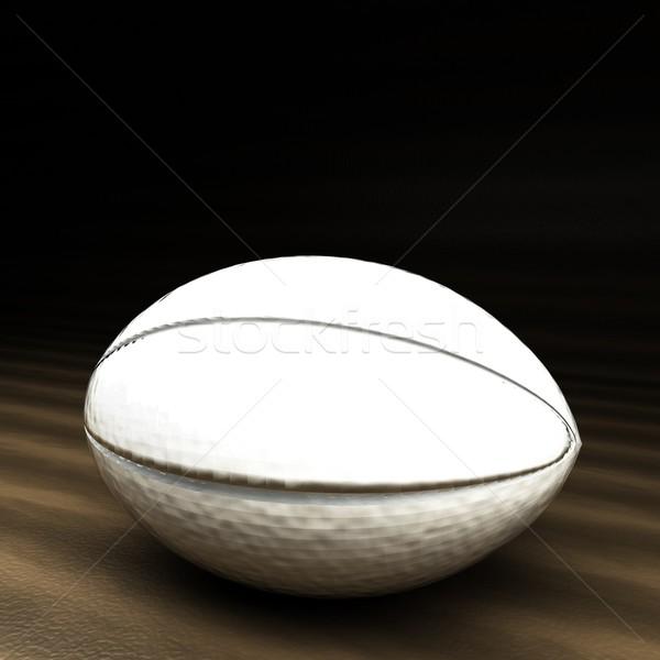 мяч для регби 3d визуализации квадратный изображение футбола Сток-фото © Koufax73