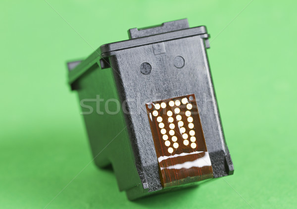 Patron fekete nyomtató zöld üzlet számítógép Stock fotó © Koufax73