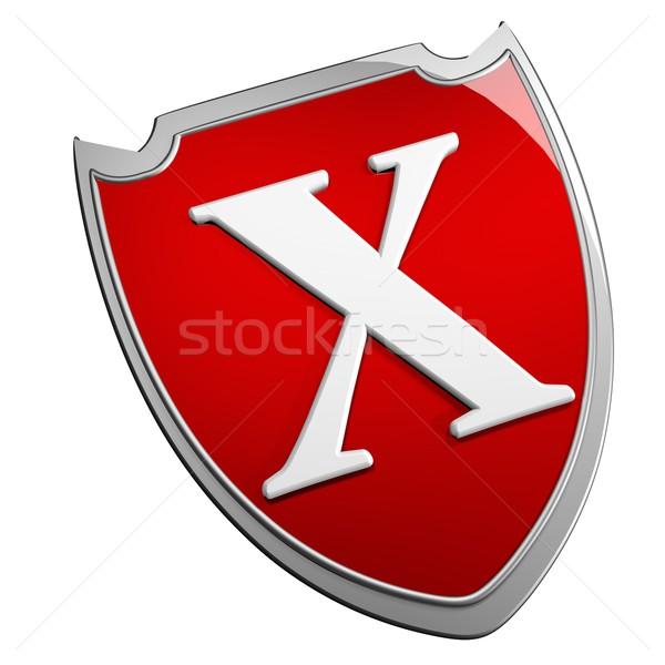 Escudo aislado blanco 3d Internet diseno Foto stock © Koufax73