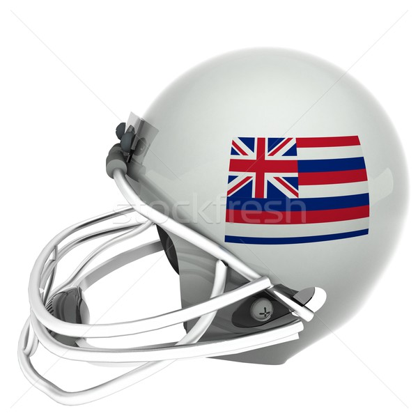 ハワイ サッカー フラグ ヘルメット 3dのレンダリング 孤立した ストックフォト © Koufax73