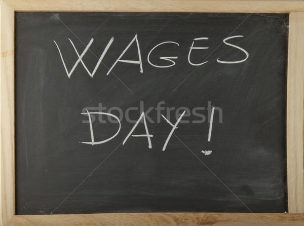 доске слов день написанный мелом бизнеса Сток-фото © Koufax73