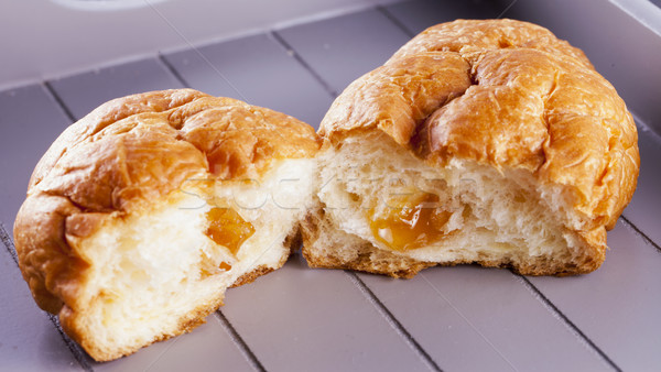Croissant in two pieces Stock photo © Koufax73