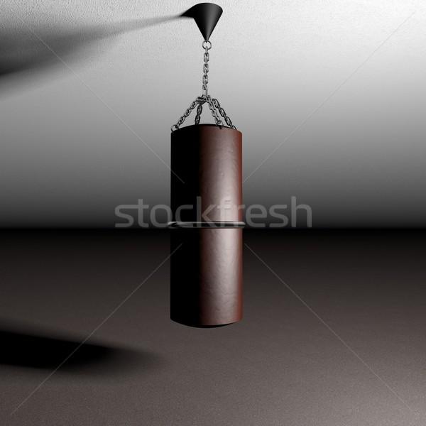 Boks çanta kadar tavan 3d render spor Stok fotoğraf © Koufax73