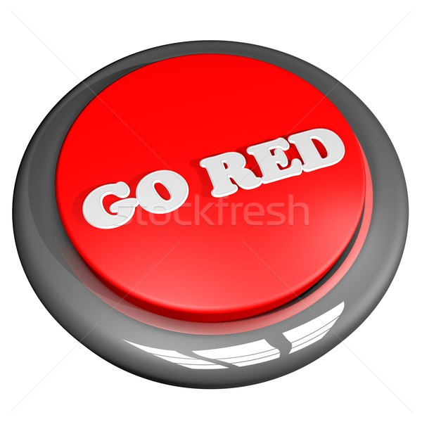 Piros gomb izolált fehér 3d render üzlet Stock fotó © Koufax73