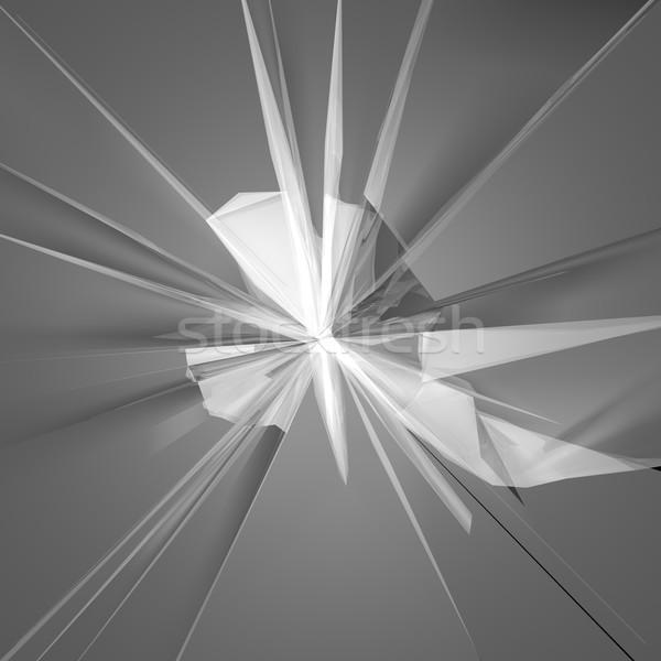 Törött üveg 3d render absztrakt üveg háttér ablak Stock fotó © Koufax73