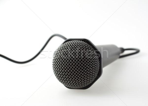 マイク 孤独 白 音楽 岩 コンサート ストックフォト © Koufax73