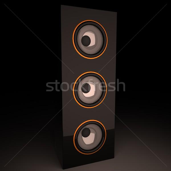 AMP Постоянный вертикальный 3d визуализации квадратный изображение Сток-фото © Koufax73