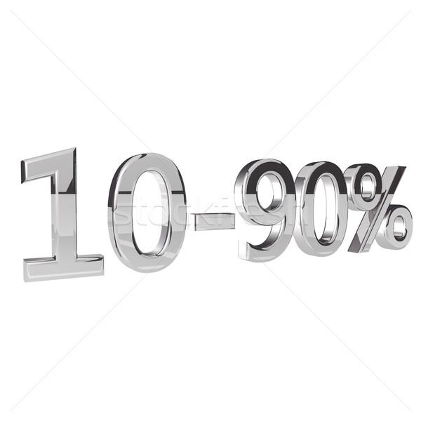 Percentage geïsoleerd witte 3d render vierkante afbeelding Stockfoto © Koufax73