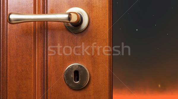 Night beyond the door Stock photo © Koufax73