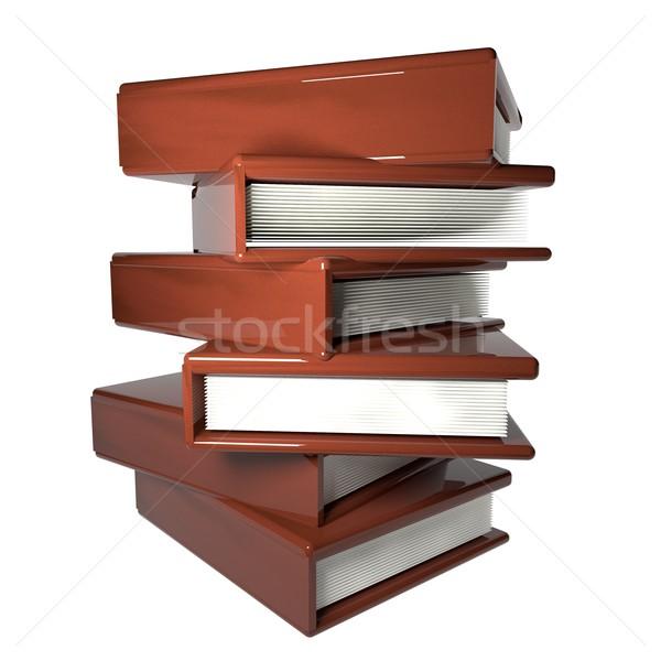 Libros blanco cuero aislado 3d Foto stock © Koufax73