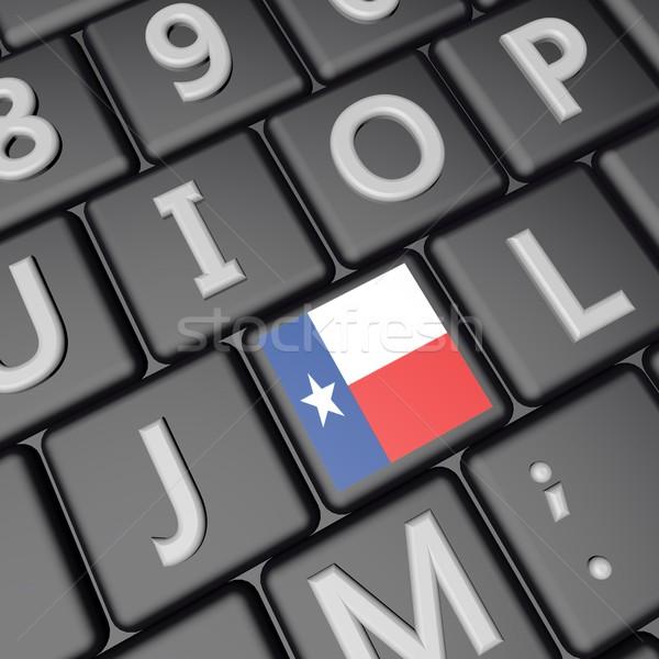 テキサス州 キー フラグ キーボード 3dのレンダリング 広場 ストックフォト © Koufax73