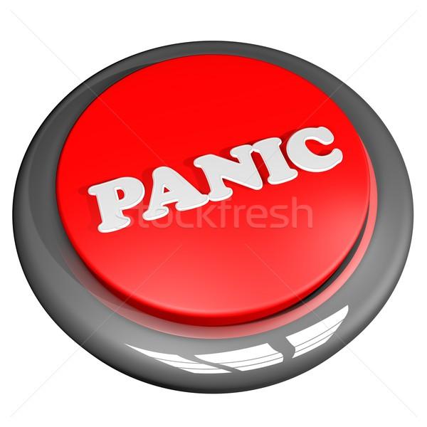 パニック ボタン 孤立した 白 3dのレンダリング ビジネス ストックフォト © Koufax73