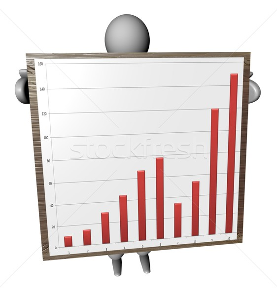 3D puppet with graph Stock photo © Koufax73