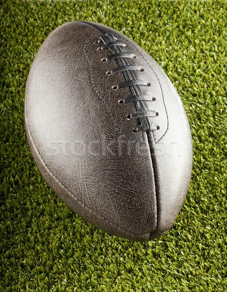 Futbol kahverengi karanlık eski takım Stok fotoğraf © Koufax73