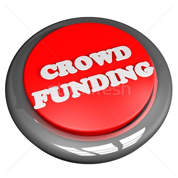群衆 ボタン 孤立した 白 3dのレンダリング 広場 ストックフォト © Koufax73