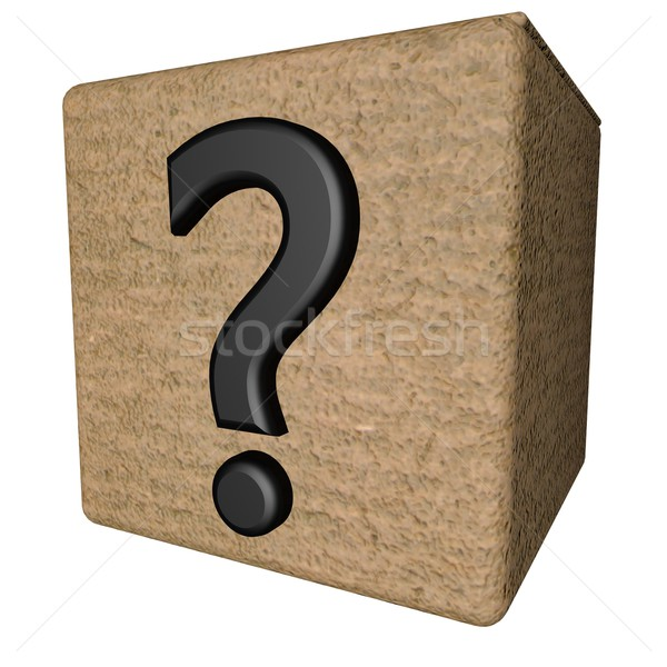Interrogative box Stock photo © Koufax73